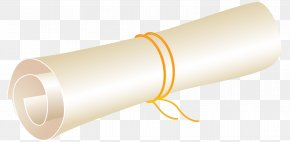 White Scrolled Paper Clipart Image - Product Cylinder Design PNG