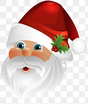 Santa Claus Face Transparent Clip Art Image - Santa Claus Christmas Clip Art PNG