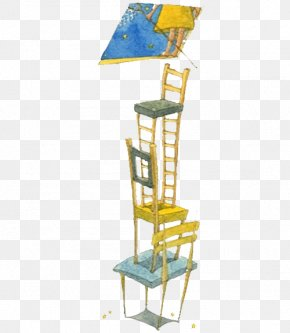 Chair Ladder - Watercolor Painting Illustrator Illustration PNG