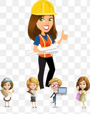 Female Construction Engineer - Engineering Computer File PNG