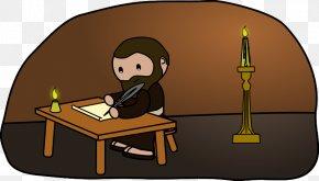 Man Writing - Free Writing Writing Process Clip Art PNG