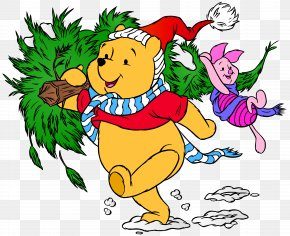 Winnie The Pooh And Piglet Christmas Clip Art Image - Winnie The Pooh The House At Pooh Corner Eeyore Christopher Robin Christmas PNG