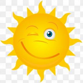 Winking Sun Transparent Clip Art Image - Clip Art PNG