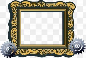 Mechanical Material Pattern Frame Border - Picture Frame Free Content Clip Art PNG