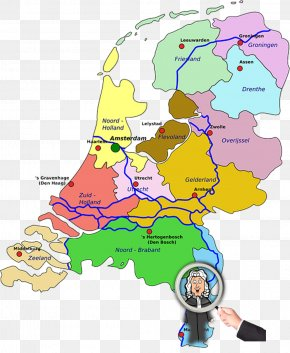 Map - Provinces Of The Netherlands World Map Clip Art PNG