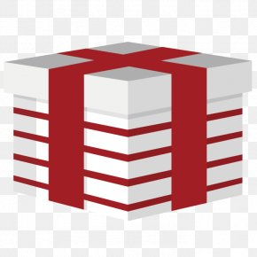 Vector Art Gift Box - Red Gift PNG