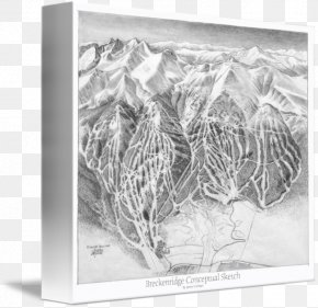 Conceptual Map - Breckenridge Ski Resort Trail Map Gallery Wrap Canvas Art PNG
