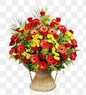 Gerbera Basket - Flower Bouquet Floristry Transvaal Daisy Flower Delivery PNG