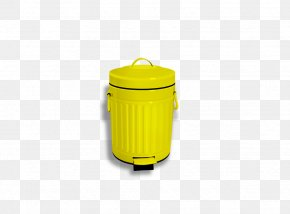 Yellow Trash Can - Material Waste Container Packaging And Labeling PNG