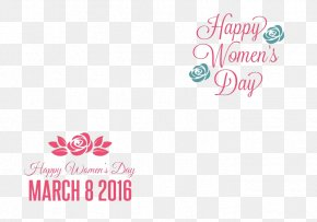 Celebrate The March 8 Women's Day - International Womens Day Woman Logo Greeting Card PNG