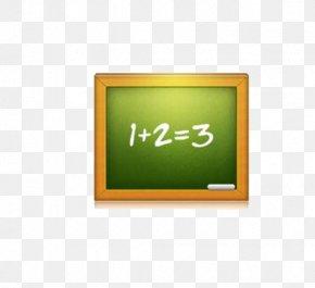 Green Chalkboard - Blackboard Icon PNG