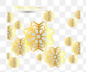 Golden Snowflake Background - Light Snowflake PNG