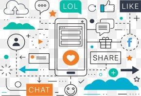 Vector Illustration Social Media Marketing - Social Media Marketing Digital Marketing Advertising PNG