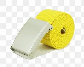 Lemon Yellow Canvas Belt - Belt Canvas Buckle Designer PNG