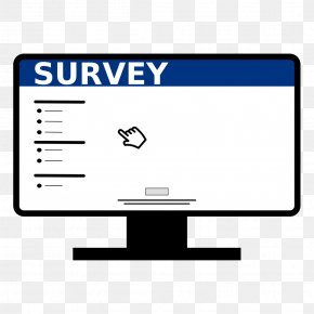 Survey Online Monitor Icon - Survey Methodology Clip Art PNG