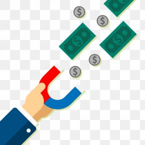 Vector Business Magnet - Euclidean Vector Money Illustration PNG