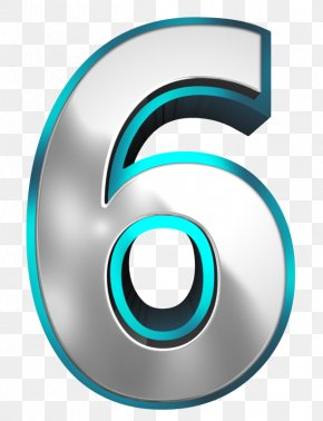 Metallic And Blue Number Six Clipart Image - Aaron Doral Sharon