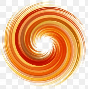 Orange Swirls Of Light - Spiral Vortex Orange PNG