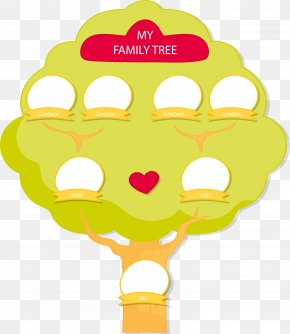 Yellow Green Family Tree - Family Tree Tree Structure Computer File PNG