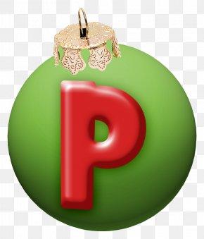 Christmas Letter P - Christmas Letter Alphabet Typeface PNG