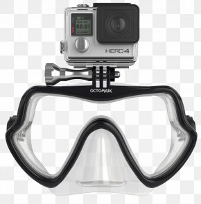Full Face Diving Mask - Diving & Snorkeling Masks GoPro Scuba Diving Underwater Diving PNG