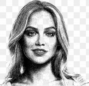 Woman - Black And White Drawing Visual Arts Self-portrait Sketch PNG
