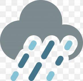Heavy Rain Vector Weather Icon - Weather Meteorology Rain Icon PNG