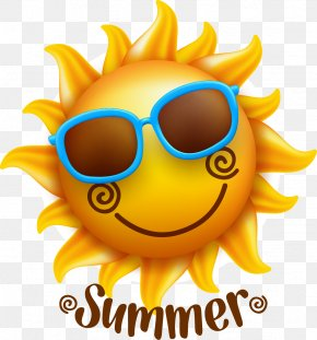 Summer Sun - Smiley Face Illustration PNG