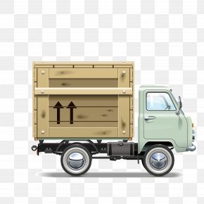 Vector Truck Freight Container - Cargo Logistics Transport Courier Truck PNG