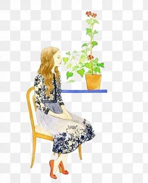 Long Hair Woman - Long Hair Illustration PNG