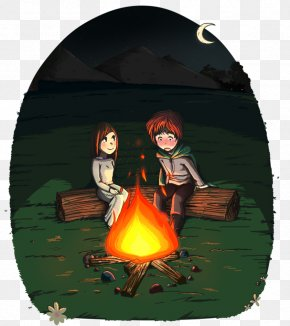 Campfire - Kvothe The Name Of The Wind Fan Art PNG