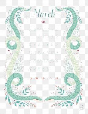 Snake-like Pattern Calendar March - Month Download Computer File PNG