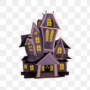 Cartoon Castle Clip Art - Haunted House Clip Art Ghost Free Content PNG