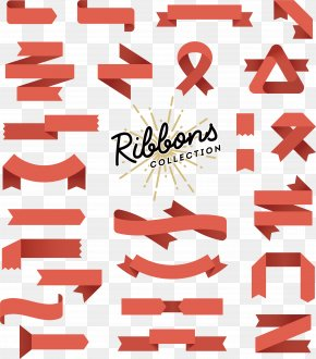 Fashion Design Vector Material Ribbon Tag - Banner Flat Design Illustration PNG