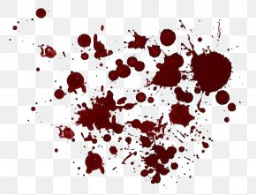 Blood - Brush Paint Splatter Film PNG