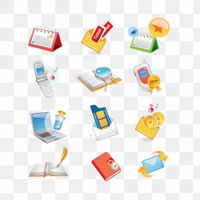Vector Phone And Book - Communication Email Symbol Icon PNG