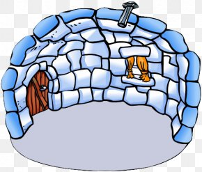 Igloo - Club Penguin Igloo House Clip Art PNG