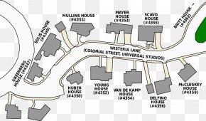 Wisteria - Colonial Street Universal Studios Hollywood Susan Mayer Bree Van De Kamp Mary Alice Young PNG