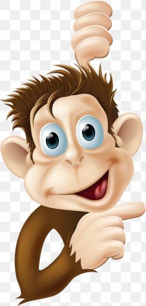 Naughty Monkey - Monkey Chimpanzee Tree Clip Art PNG