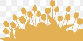 Vector Tulips Silhouette 6 - Tulip Silhouette PNG