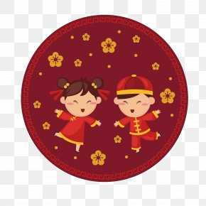 Smiling Children Chinese New Year - Chinese New Year Greeting Card Wish PNG