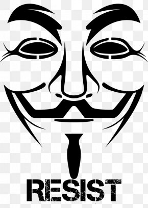 T-shirt - Guy Fawkes Mask T-shirt Anonymous V PNG
