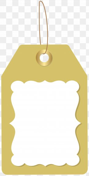Deco Price Tag Clip Art Image - Yellow Christmas Ornament Font PNG