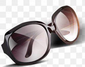 A Pair Of Sunglasses - Goggles Sunglasses Brown PNG