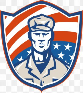 Soldier Shield - Royalty-free Patriot Illustration PNG
