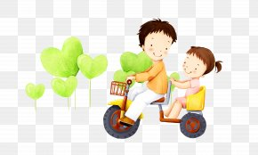 Cartoon Villain Cycling Child - Birthday Wish Quotation Brother Sister PNG