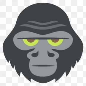 Gorilla - Gorilla Ape Chimpanzee Monkey Clip Art PNG