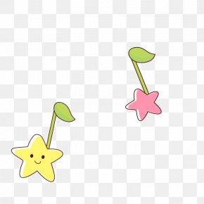 Cartoon Star Note Decoration Pattern - Musical Note Cartoon Clip Art PNG