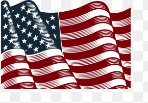 Vector Hand-painted American Flag PNG