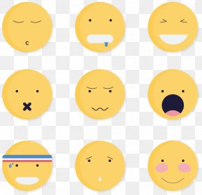 9 Cute Round Face - Smiley Face Expressions Facial Expression PNG